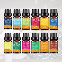 12Pcs/Set 100% Pure Plant Aromatherapy Diffusers Essential Oil 10ml Organic Body Massage Relax Fragrance Skin Care Kit