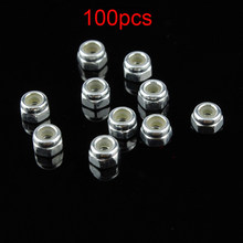 100PCS 94690 2mm Self-locking Nut Lock Nuts Screws Modify Parts for RC Tamiya Mini 4WD Racing Car 19364 DIY Acc(China)