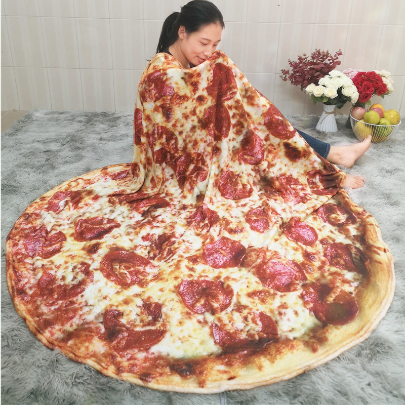 Pizza Tortilla Tortilla Blanket Pita Lavash soft blanket for bed wool sofa plaid plush bedspread Manta Burrito Koce-1