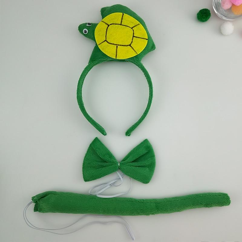 Детская повязка на голову с ушками животных для мальчиков и девочек; комплект с галстуком-бабочкой и хвостом для детей и взрослых; карнавальный костюм; вечерние аксессуары для волос - Цвет: 65