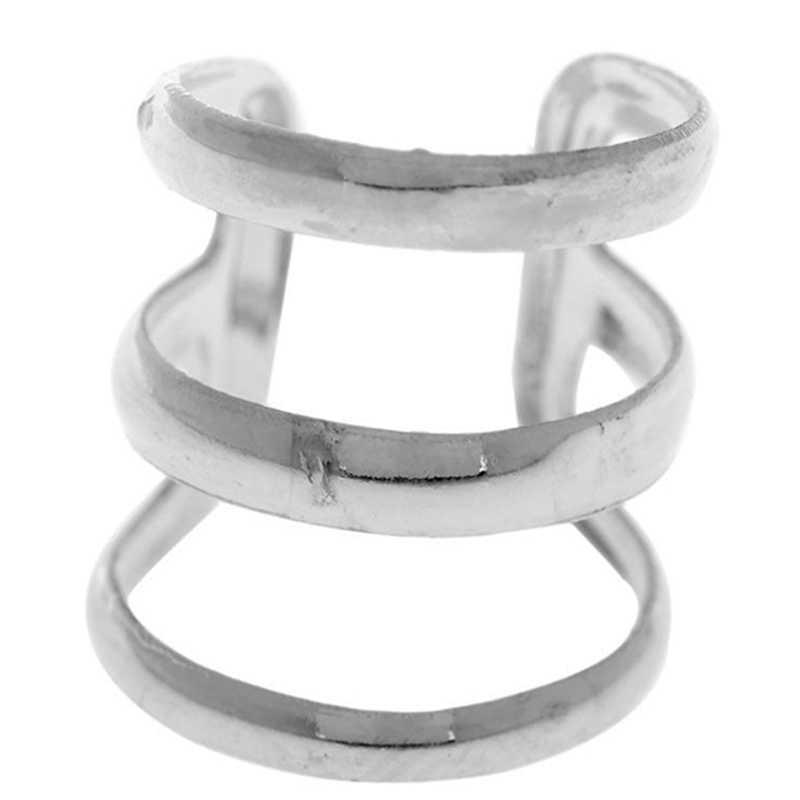 2 adet = 1 Pair yeni kaya kulak klipsi hiçbir piercing-Clip on gümüş altın bronz kadın erkek parti Punk takı manşet Wrap küpe