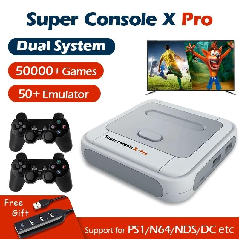 Консоль X Pro для видеоигр, портативная игровая приставка 4K HD Wi-Fi для PSP/PS1/N64, в стиле ретро, с 50 эмуляторами и 50000 играми