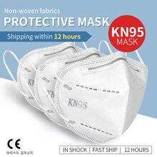 10/50 pces kn95 dustproof anti-nevoeiro e máscaras faciais respiráveis 95% filtragem kn95 máscara boca anti smog forte máscara protetora