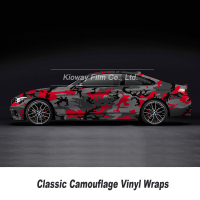 Size: 1.52*5/10/20/25/30 Meters redCamouflage Vinyl Wrap For Hood Roof Motocycle Skateboard Decal Camo Film Foil Stickerbomb