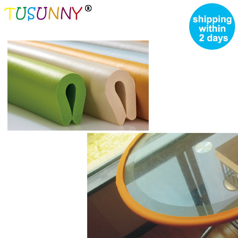 TUSUNNY 'U' Style 2m New  Bumper Strip Baby Safety Corner Protector Glass Table  Corner Protector  Table Furniture Cushion Strip