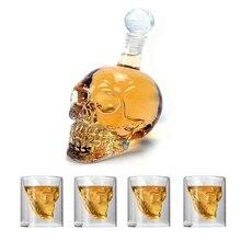 KHGDNOR череп Стекло Shot виски вина с украшением в виде кристаллов бутылка чашки 25 мл 75 мл 150ml 250ml прозрачные вина чашка для питья
