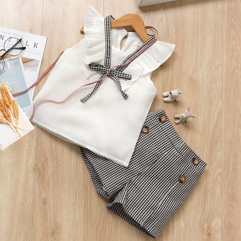 Hb4828874333346fdb74d3272b3a93b79J Menoea Girls Suits 2020 Summer Style Kids Beautiful Floral Flower Sleeve Children O-neck Clothing Shorts Suit 2Pcs Clothes