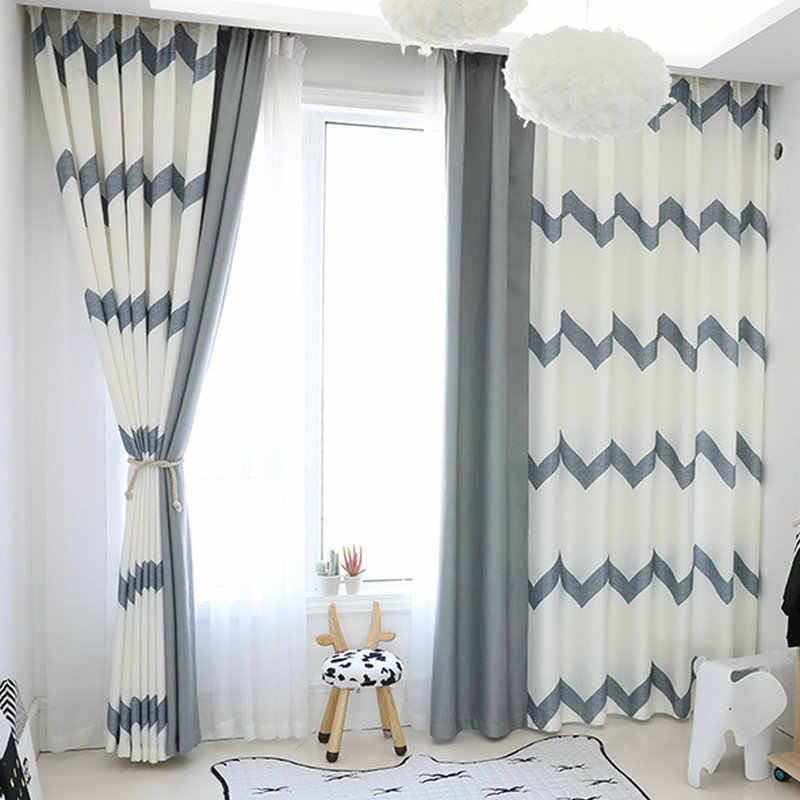 Minimalism Style Curtains For Living Room Bedroom Natural Blackout Curtain Blinds Home Decoration Customized White Grey Drapes Curtains Aliexpress