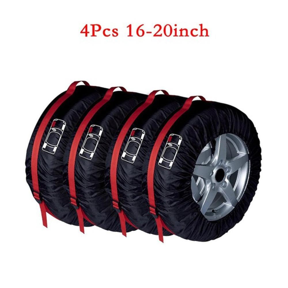 スペアタイヤカバーケースポリエステル冬と夏の車のタイヤ収納袋自動タイヤアクセサリー車両ホイールプロテクター - title=