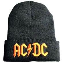New Arrival stylowa AC DC Logo czapka typu Beanie klasyczne czarne nowe czapki z dzianiny 2021 najnowsza czarna popularna czapka z czaszkami czapki Unisex