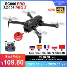 ZLL Dron profesional sin escobillas SG906 PRO 2 PRO2, GPS, con cámara 4K HD, de 3 ejes cardán antivibración, WiFi, FPV