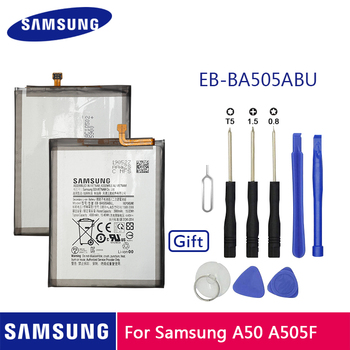 SAMSUNG Original Phone Battery EB-BA505ABN EB-BA505ABU 4000mAh For Samsung Galaxy A50 A505F SM-A505F Replacement Batteries смартфон samsung galaxy a50 64gb sm a505f 2019 синий