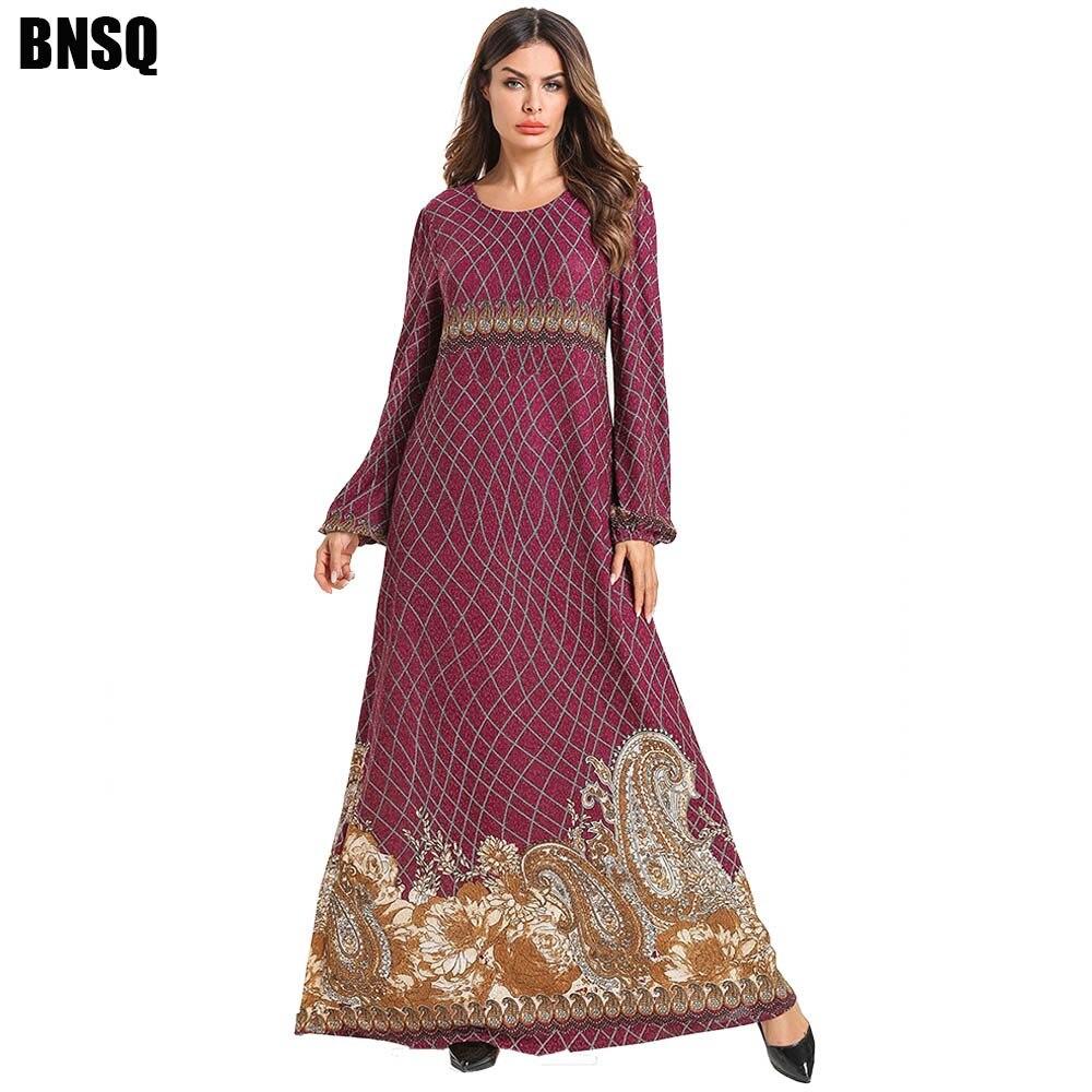 BNSQ Abayas For Women Muslim Dress Women Gamis Wanita Robe Dubai Moslim Jurken Robe Musulmane Femme Djelaba Dubai