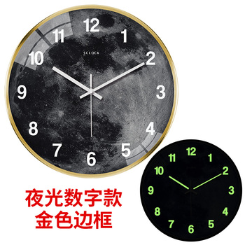 Large Luminous Wall Clocks Personality Silent Glow Wall Clocks Living Room Creative Relogios Parede Glowing Wall Clock AA50WC