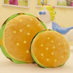 Image 4 - Peluş oyuncaklar hamburger şekli yastık yaratıcı komik peluş oyuncak bebek yastık çocuk hediye gerçekçi hamburger doldurulmuş oyuncaklar