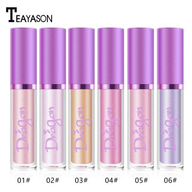 TEAYASON Lip Gloss Lipstick Makeup Maquiagem Flash Lip Glaze Pen Diamond Shiny Bright 6 Color Pearlescent Smooth Cosmetics TSLM2 5