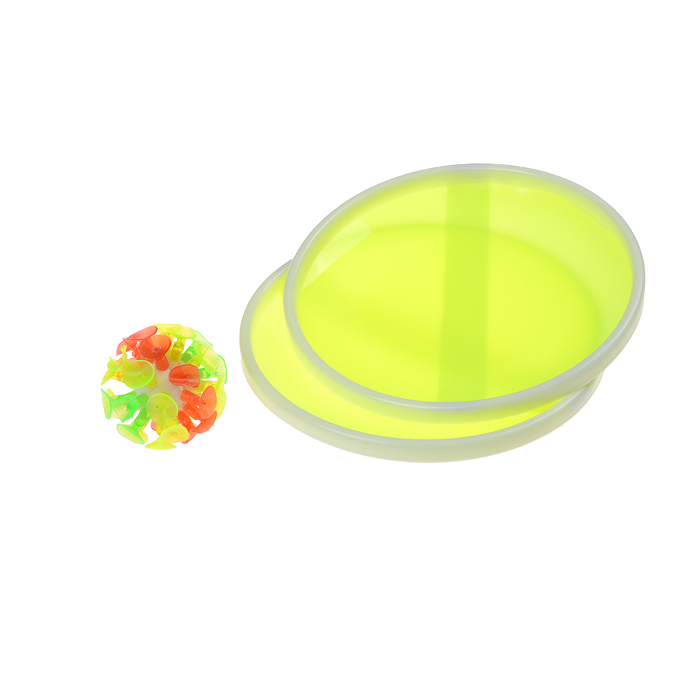 Outdoor Family Activity Game Funny Sticky Ball Game With 32 Suction Cup 2 Round Bats