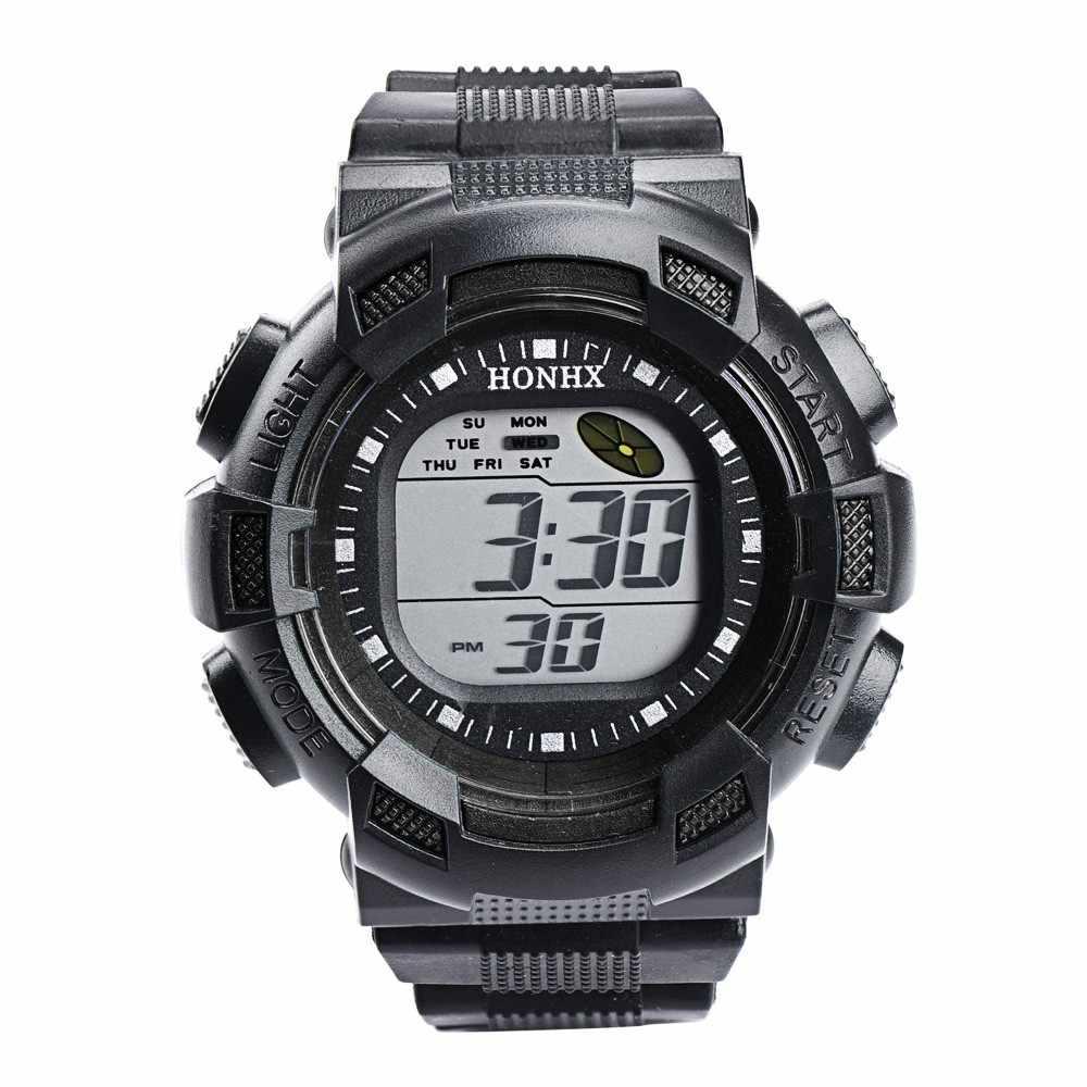 シックな時計電子時計男性スポーツ腕時計防水軍事 Lcd アラーム日付ラバー腕時計レロジオ Masculino Montre 30 *