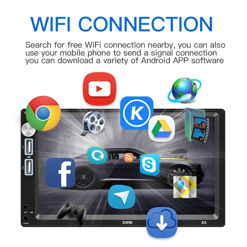 Podofo 2din アンドロイド 8.1 カーラジオ WIFI GPS ナビゲーション Autoradio カーステレオオーディオ MirrorLink 車マルチメディア MP5 プレーヤー FM ラジオ