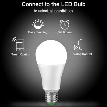 WiFi Smart Home LED lamp E27 15W Smart Life lighting Bulb Dimmable APP Remote ,Voice Control Compatible wireless wifi control smart light bulb e27 base type studio and exhibition lighting remote control light bulb app control led