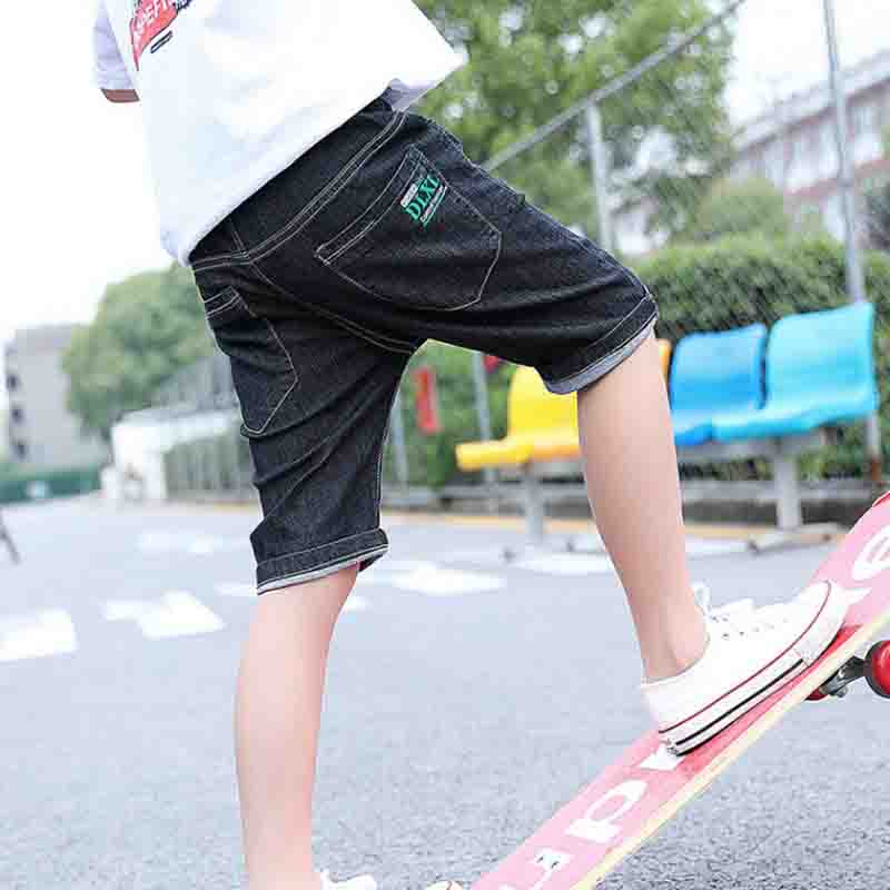 Summer Children'S Clothes Boys Shorts Causal Elastic Waist Cotton Boy Jeans Shorts For Teen Boys Kids Denim Shorts Trousers 1