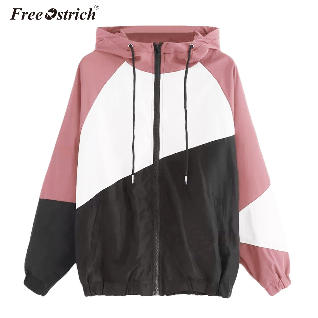 Free Ostrich 2019 Autumn Windbreaker   Jacket   Women Zipper Pockets Coats Casual Long Sleeves Feminino   Basic     Jackets   N30