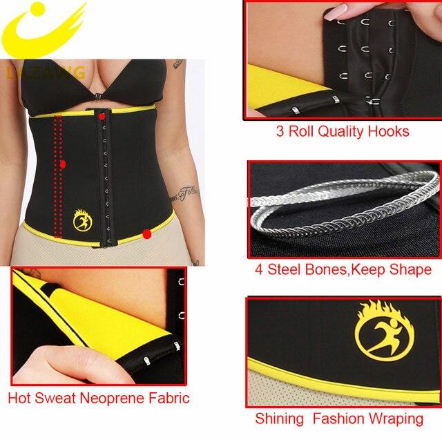 LAZAWG Women Waist Trainer Hot Sweat Neoprene Belt Fat Burn Girdle Slimming Strap Body Shaper Slim Tummy Control Waist Cincher 1