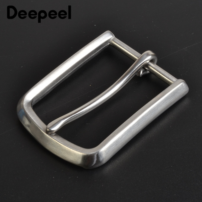 Deepeel 1PC 35mm Width Stainless Steel Brush Belt Buckle DIY Leather Craft Brushed Jeans Metal Buckle Clothing Accessories BD334