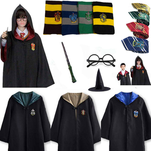 Halloween Cosplay Costume Potter Outfits Robe Cape Cloak Suit Hoodie Potter Cosplay Clothes Accessories Shirt Uniforms Kids