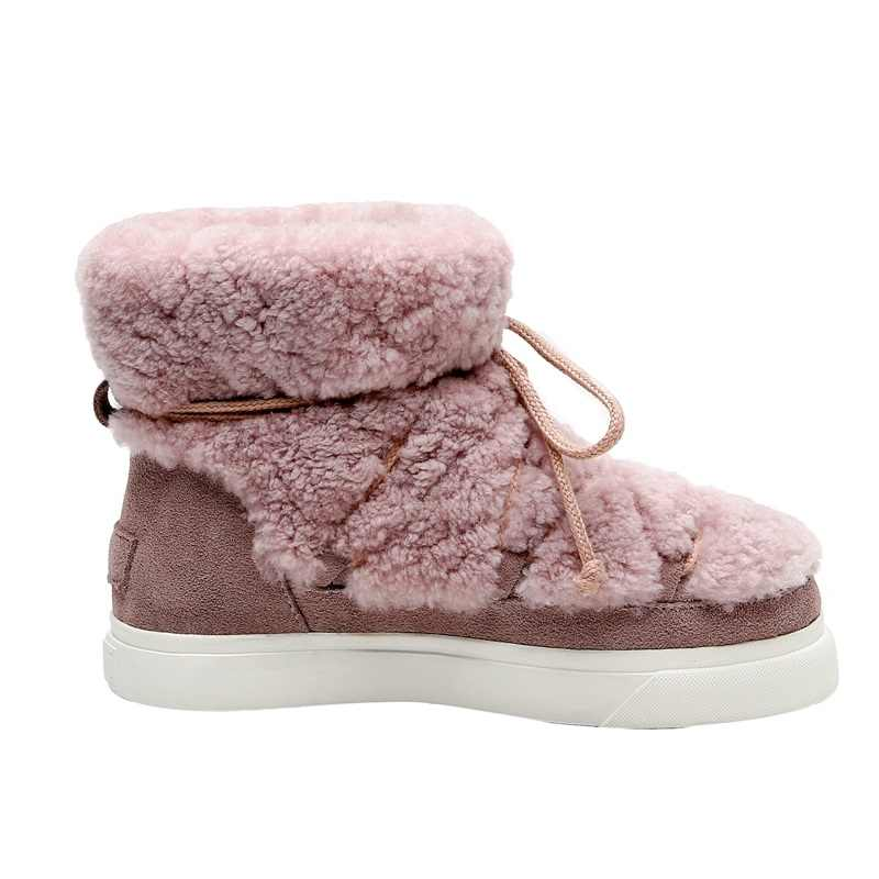 Marka bayan ayakkabıları sıcak kürk yarım çizmeler kadınlar için kar botları ayakkabı rusya kış botları kadın açık rahat ayakkabılar kadın flats