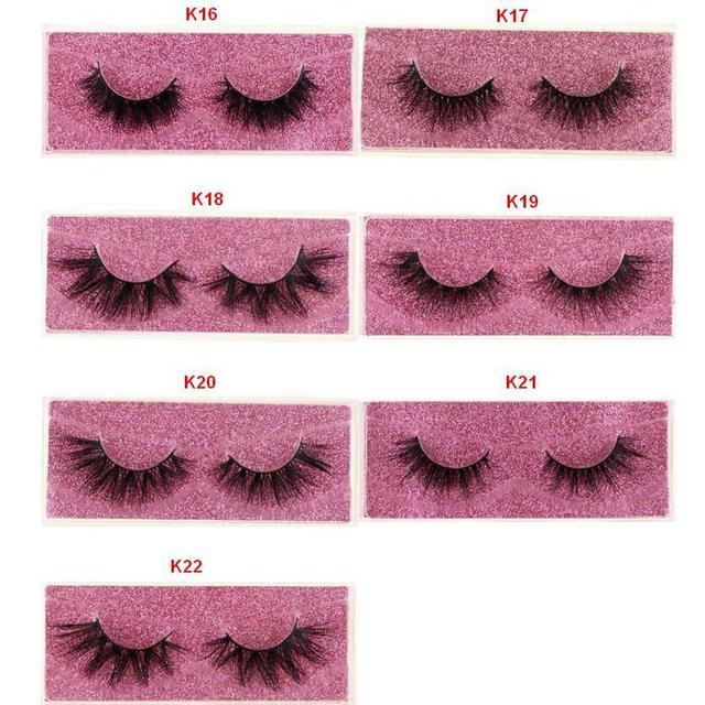 Mink Lashes 3D Mink Eyelashes 100% Cruelty free Lashes Handmade Reusable Natural Eyelashes Popular False Lashes Makeup E1- E13 5