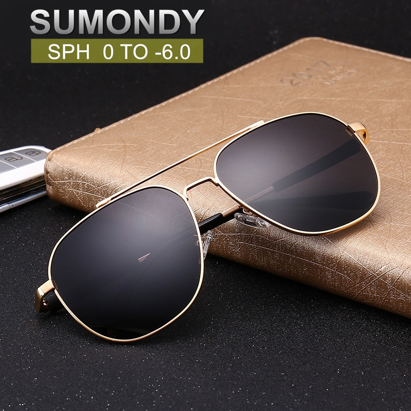 SUMONDY Myopia <font><b>Sunglasses</b></font> Glasses SPH 0 -0.5 -<font><b>1</b></font> -<font><b>1</b></font>.5 -2 -2.5 -3 -3.5 -4 -4.5 -5 -5.5 -<font><b>6</b></font> Men Women Nearsighted Spectacles UF81 image