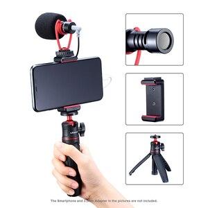 Image 5 - Ulanzi שיא מיקרופון חצובה Vlog ערכת מיני חצובה אנכי ירי טלפון הר ערכת 3.5MM שקע וידאו אודיו מיקרופון