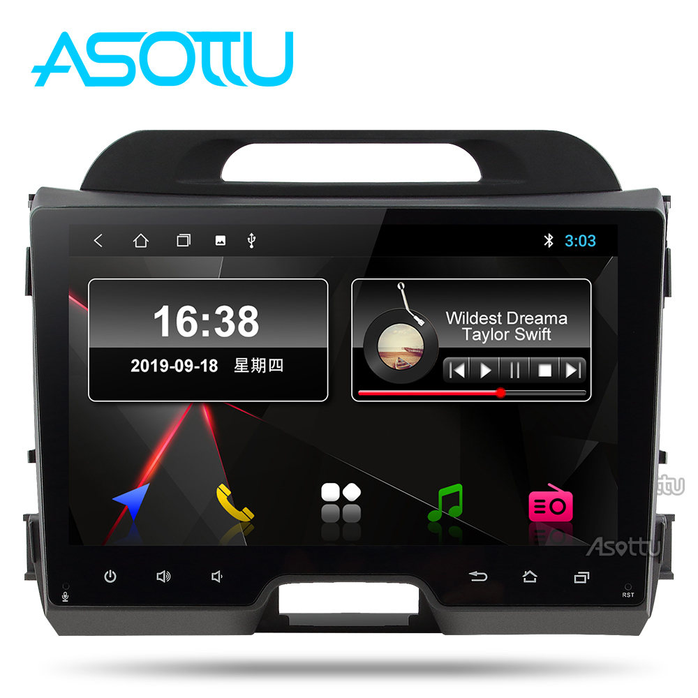 Asottu KI302 android 9.0 px30 car dvd for KIA sportage 2011 2012 2013 2014 2015 headunit gps navigation car multimedia player image