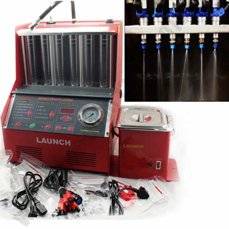 Launch <font><b>CNC602A</b></font> Automotive fuel injector tester&cleaner 220V/110V with English panel CNC-602A for 6 or 4 cylinders Gasonline cars image