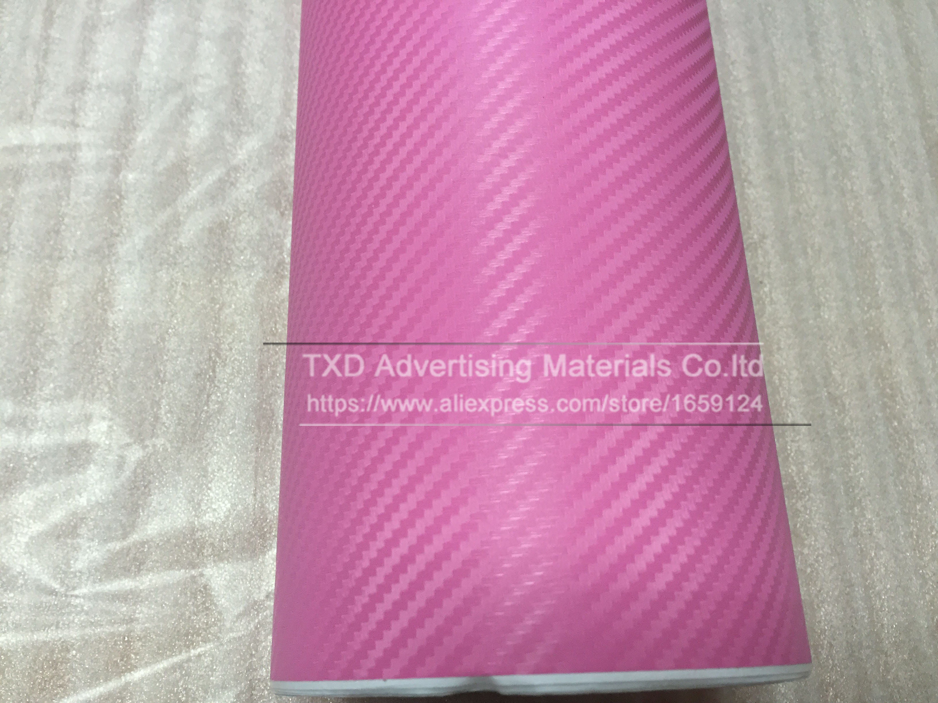 Image 4 - 127CMX30CM Pink Carbon Fiber Vinyl Film Car Sticker Decal DIY 3D Car Styling Decorative roll sticker for Mobile Phone Laptop-in Car Stickers from Automobiles & Motorcycles