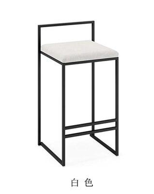 Скандинавские барные стулья модный современный минималистичный барный высокий барный стул Домашний Персональный барный стул Креативный дизайн стул 66 см высота сиденья - Цвет: 65cm seat height B