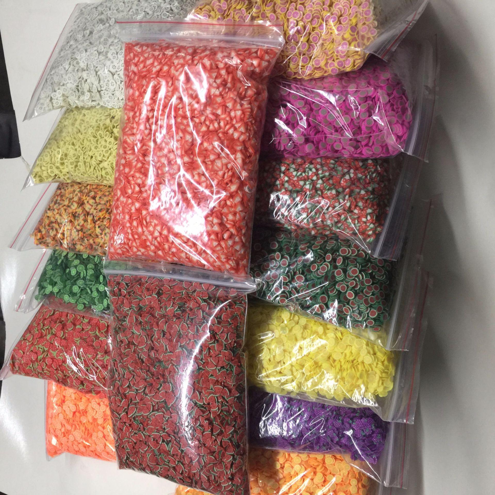 1 kg bag decoracao do prego da argila do polimero fimo fatia de argila do polimero