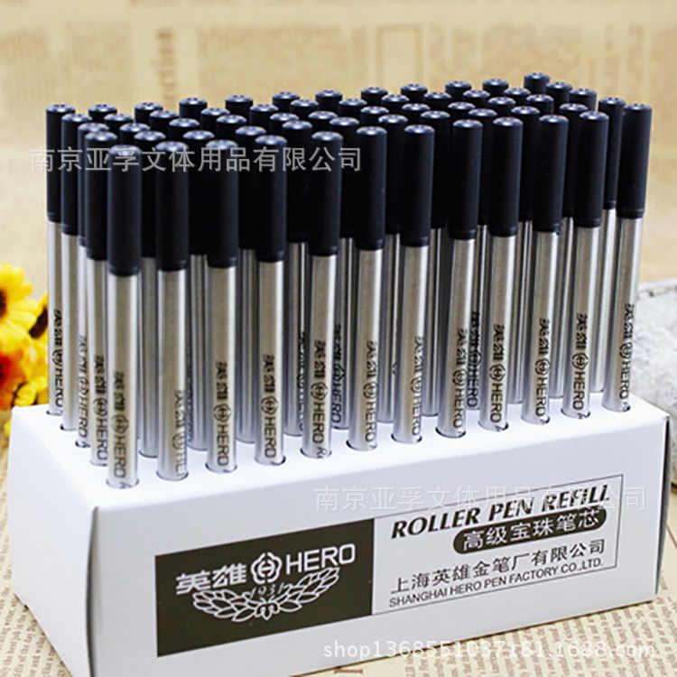 Produk Asli Pahlawan Peluru Baozhu Pena Cartridge 3102C Logam Isi Ulang 0 5 Mm Black Core Swiss Ditulis