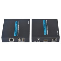 T 5120 120M HDMI Extender Over TCP/IP Single CAT5e/6 Cable Network Lan RJ45 HD with USB UK / US / EU