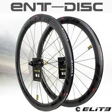 ELITEWHEELS Углеродные колеса дисковый тормоз 700c дорожный велосипед Wheelset ENT UCI качественный карбоновый обод Центральный замок или 6-blot Bock дорожны...