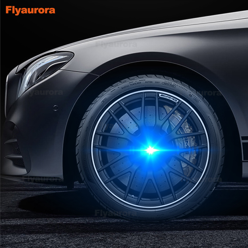 Hub Light 4PCS <font><b>Car</b></font> Floating Illumination <font><b>Wheel</b></font> Caps LED Light <font><b>Center</b></font> <font><b>Cover</b></font> Lighting Cap for bmw e46/e60/e39/ <font><b>wheel</b></font> <font><b>center</b></font> cap image