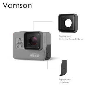 Image 1 - Vamson For Go pro Accessories UV Protective Lens Replacement USB HDMI Port Side Cover For Gopro Hero 7 6 5 Sport Camera VP717