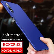 Case For Huawei Honor 9X Matte Cover Soft honor 9X Pro TPU Ultra thin Silicone Back Black Soft Slim Protect huawei honor 9x case аксессуар чехол neypo для honor 9x 9x pro soft matte silicone dark blue nst15164