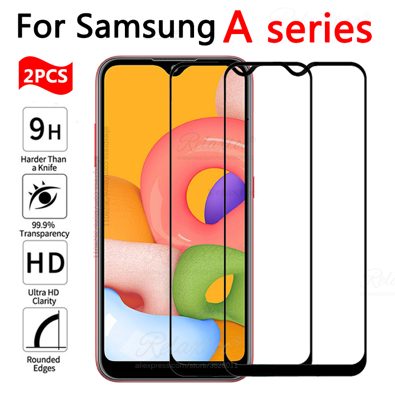 2pcs Full cover Tempered <font><b>Glass</b></font> For <font><b>Samsung</b></font> Galaxy <font><b>A10</b></font> A10S A01 <font><b>case</b></font> on For <font><b>Samsung</b></font> A 10 10S 01 A105F A107F A015F Protective <font><b>case</b></font> image