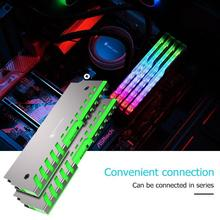 Jonsbo NC 2 2 adet bellek soğutma yeleği AURA kontrol renkli RGB masaüstü RAM soğutucu desteği anakart alüminyum soğutucu kabuk