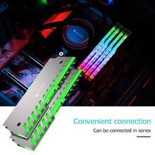 Jonsbo NC 2 2pcs זיכרון קירור אפוד הילה בקרת צבע RGB שולחני RAM צלעות קירור תמיכת לוח האם אלומיניום Cooler פגז