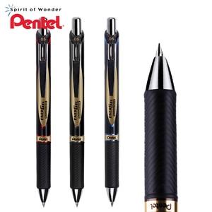 Image 1 - 3Pcs Japan Pentel waterproof quick drying gel pen 0.5mm metal pen clip water based pen BLP75 business office writing stationery