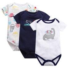 Newborn Baby Rompers Clothing 3Pcs/Lot Infant Jumpsuits 100%Cotton Children Roupa De Bebe Girls&Boys Clothes