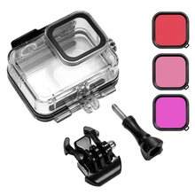 60M Waterproof Case Protective Cover with Filter for Gopro Hero 8 Motion Camera Diving Shell Accessories